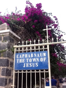 Entrance to Capernaum, on the Sea of Galilee, associated with Jesus' preaching and healing ministry
